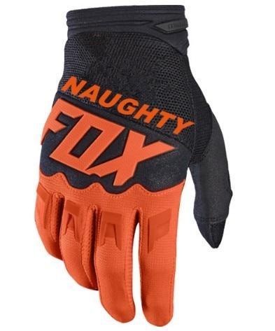 NAUGHTY FOX MX Racing Orange Gloves Enduro Racing Motocross Dirt Bike Cycling Gloves