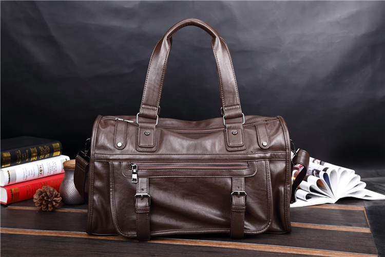 Men Handbag PU Leather Shoulder Bags Usiness Briefcases Laptop Large Capacity Man Travel Totes Male Crossbody Bags