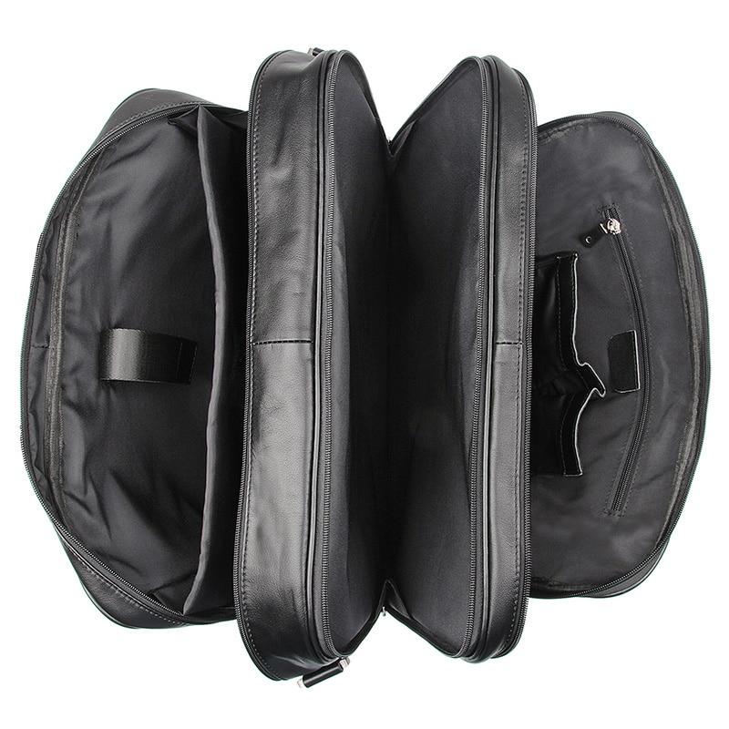Nesitu винтажный большой кофейный Черный Коричневый мужской портфель из натуральной кожи Офисные Сумки 17 портфель для ноутбука # M7289 - 3