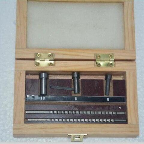 Feito sob Medida Colaradas com Calços Ferramentas de Corte Keyway Broach Conjunto Métrico 6 Pces 2mm 3mm Broaches – 8 10 Buchas Cnc Hss Mod. 134291