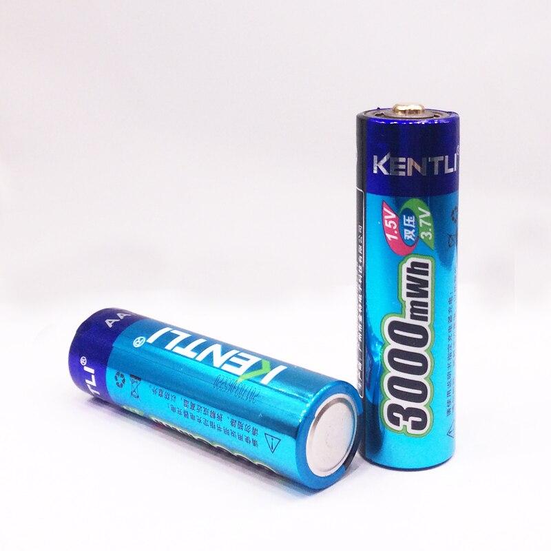 KENTLI 20 шт 1,5 v 3000mWh без эффекта памяти aa литий ионный полимерный литиевый аккумулятор + 4 слота USB зарядное устройство - 5