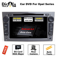 HD 1024*600 Octa Core 2din Android 8.0 Car DVD Player For Opel Corsa Vectra C D Meriva Vivaro Tigra Signum Radio GPS Navi(China)