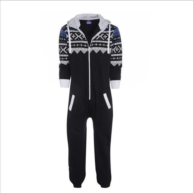Top Soft Quality Womens Pajamas 2017 New Style Winter Home Sleepwear Long Sleeve Pijamas For Couple Black Sleepwear