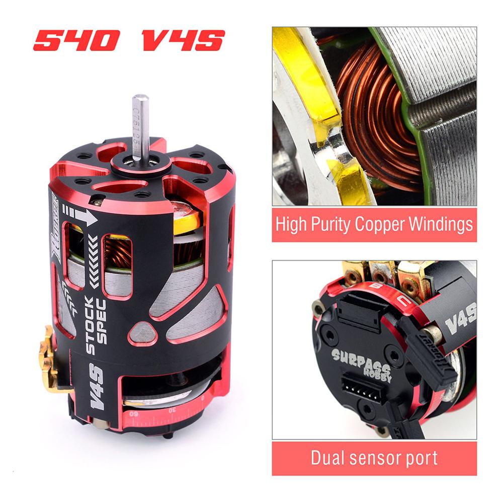 Image 3 - Rocket 540 V4S 13.5T 17.5T 21.5T 25.5T Sensored Brushless Motor and rotor for Spec Stock Competition 1/10 1/12 F1 RC Car-in Parts & Accessories from Toys & Hobbies