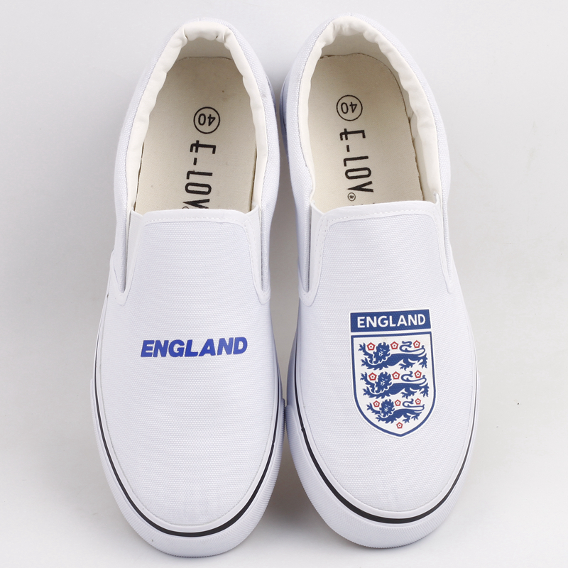 High Quality England Flag Printed Canvas Shoes Slip On Zapatos Unique Union Jack Print Casual Loafers Outdoor Espadrilles майка print bar jack rabbit