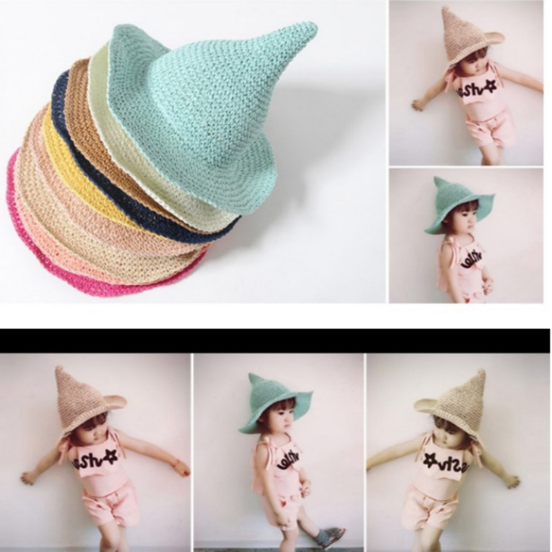 New Fashion Cartoon Colorful Fish Design Children Sun Straw Hats Kids Summer Bucket Cap Apparel Accessories