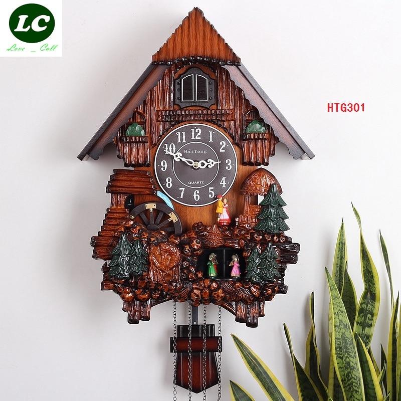 TRASPORTO LIBERO orologio da parete KAIROS cuculo orologio di alta qualità/orologio a cucù in legno/tempo uccello la foto orologio da parete