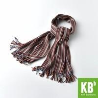 2017 KBB Spring Winter Women Men Knit Warm Adult Fashion Women Scarf Cotton Brown Stripes Neck Cover Wrap for Women