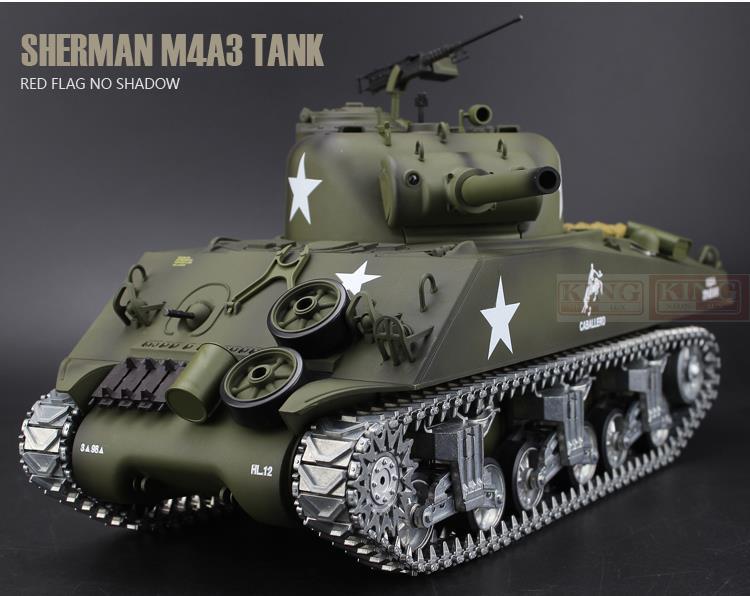 Henglong T3898 Ultimate 1/16 Sherman M4A3 U.S.Army RC tank Metal Gear Tracks