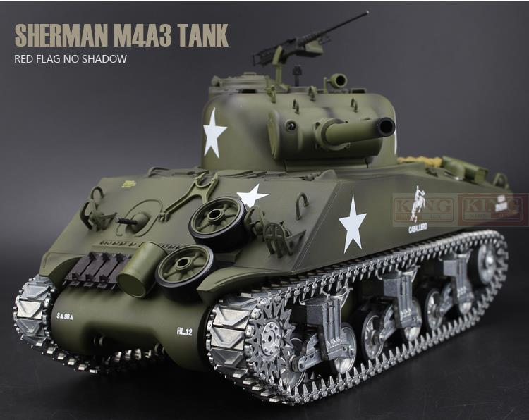 Henglong 1/16 scale 2.4GHz RC tank Sherman M4A3 battle Tank U.S.Army Ultimate metal version Smoke Sound Metal Gear Tracks mato sherman tracks 1 16 1 16 t74 metal tracks