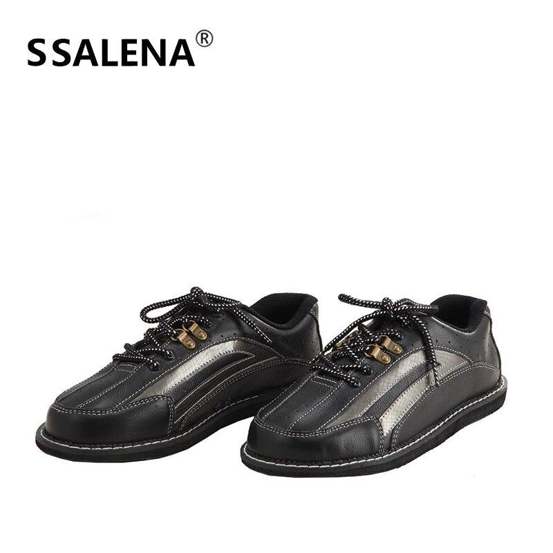 Профессиональная обувь для боулинга мужские кожаные Нескользящие Боулинг кроссовки дышащие сетчатые кроссовки легкая обувь AA11037