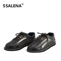 Professional Bowling Shoes Mens Leather Skidproof Bowling Sneakers Breathable Mesh Trainers Lightweight Footwear AA11037