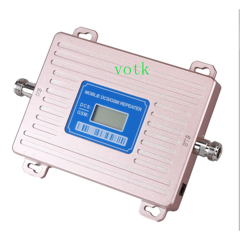 VOTK 2019 NEW GSM 900 UMTS 1800 Mhz Dual Band Repeater 2G 4G Mobile Phone Signal Booster LCD Display
