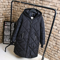 Black Parka Coat for Women Casual Hooded Warm Thick Loose Long Parkas Outerwear KK2236