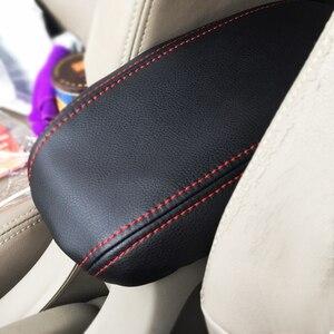 Car Center Control Armrest Box Microfiber Leather Trim Cover For Honda City 2008 2009 2010 2011 2012 2013 2014