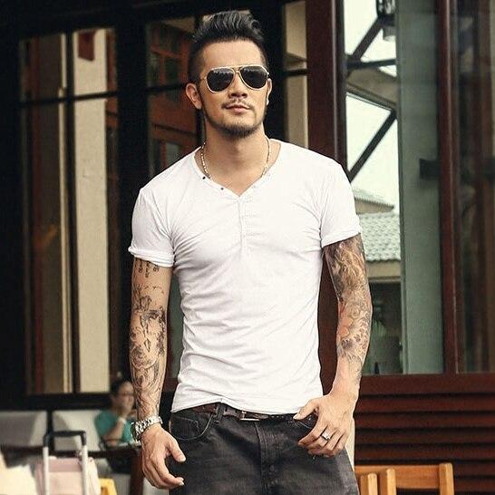 Tops Tees manga corta camiseta de los hombres de la marca de moda - Ropa de hombre - foto 6
