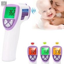 Adulte/Bébé Thermomètre Infrarouge Précis Termometro Infantile LCD De Diagnostic-outil 3-couleur Rétro-Éclairage Médical Standard Thermomètre