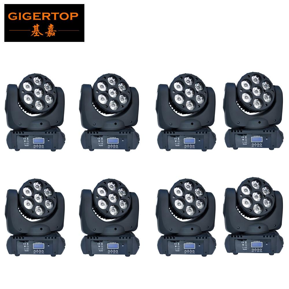 TOP Quality 8pcs/lot 15CH 90W Beam Led Moving Head Light RGBW 4 IN 1 LED Spot Moving Head USA High Power Cree 110V-240V Disco DJ