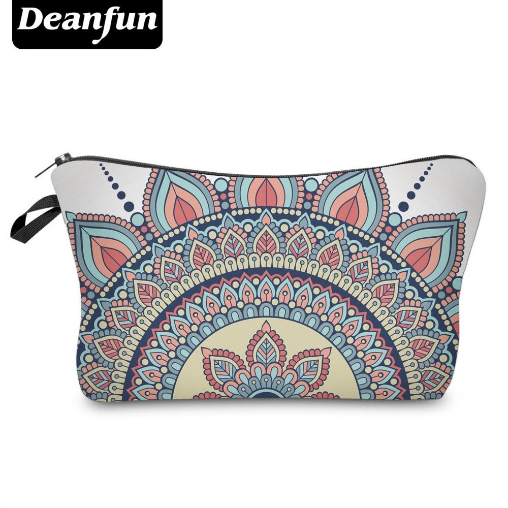Deanfun Cosmetic Bags 3D Printed Mandala Floral Vintage Style Women Makeup Organizer for Travel 50965 3d printed mandala beach throw