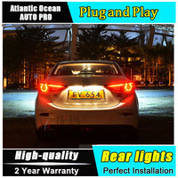 JGRT Car Styling For Mazda 3 Taillights 2014 2015 Mazda3 Axela LED Tail Lamp Rear Lamp