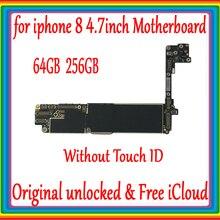 64 Гб 256 ГБ для iphone 8 материнская плата без сенсорного ID, 100% Оригинал разблокирован для iphone 8 4,7 дюймов материнская плата с полными чипами