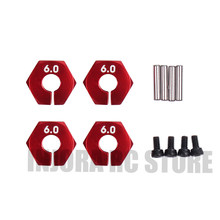4 stks/set 12 MM Metalen Wiel Hex voor 1/10 Axiale SCX10 Traxxas HSP Tamiya RC Crawler D90(China)