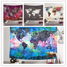 SBB Bedding Map of the world series tapestries Digital printed tapestry wall cloth Decorative hanging3