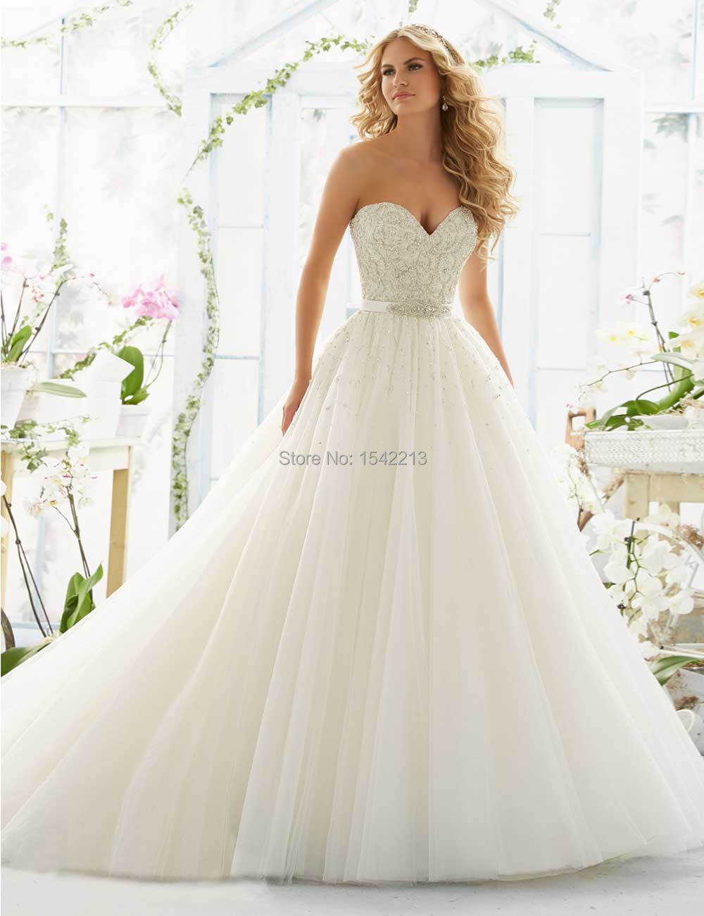 Heavy beaded sweetheart ball gown low back sexy wedding for Beaded low back wedding dress