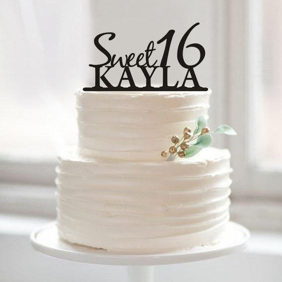 Acrylic Happy Birthday Cake Topper Sweet 16 Birthday Party Decoration Cake Decorations For Birthday 1st Birthday