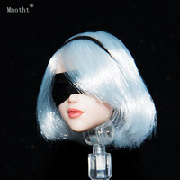 Mnotht 1/6 Neil Machinery Age 2b Sister soldier Female head Sculpt toy move eye OB Style Head Carved doll for 12'' Action Figure