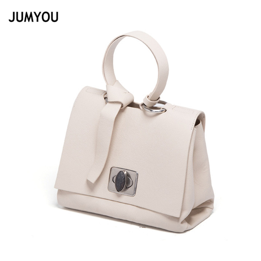 Genuine Leather Bags Women Handbags Fashion Vintage Soft Beige Crossbody Bags For Female Real Leather Messenger Bags Sac A Main