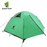 GeerTop 2 to 3 Person Tent 3 to 4 Season Backpacking Tent Waterproof Easy Set Up Man Dome Tent for Camping Hiking Travel Outdoor