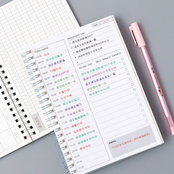 kawaii Agenda 2019 2020 Notebook 365 Daily Weekly Monthly Yearly Calendar Planner Schedule organizer journal books school A5