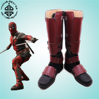 Movie Deadpool Wade Costume Adult Men S Halloween Carnival Cosplay Anime Shoes Any Size Free Shipping
