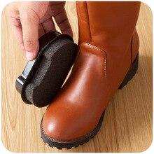 ¡2 piezas! de doble cara-de-zapatos polaco de esponja cepillo de cuidado  aceite de cera negro zapatos de limpieza de cepillo 01d56185ea3b