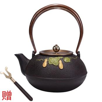 Standard work hall iron pot Cast iron pot Special price uncoating in southern Japan pig iron pot teapot tea set