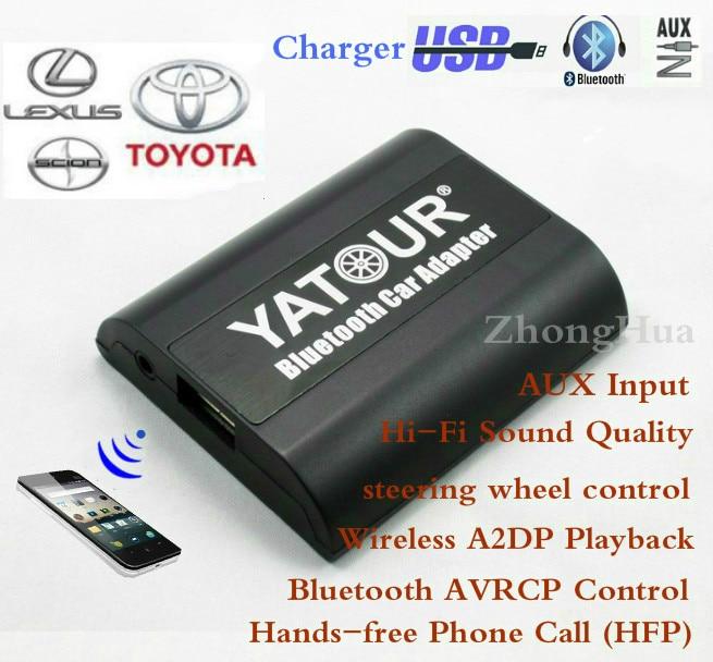 Yatour для Тойота Авалон Авенсис Камри Лексус ls460 будет отпрыск ЫТЬ-БТА Bluetooth громкой телефонной ОКС 6+6 вилка автомобилей адаптером Бесплатная доставка
