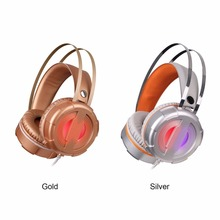 Gaming Headset LED Light Glow Noise Cancealing PC Gamer Super Bass Headband Headphones With Microphone For Computer PC