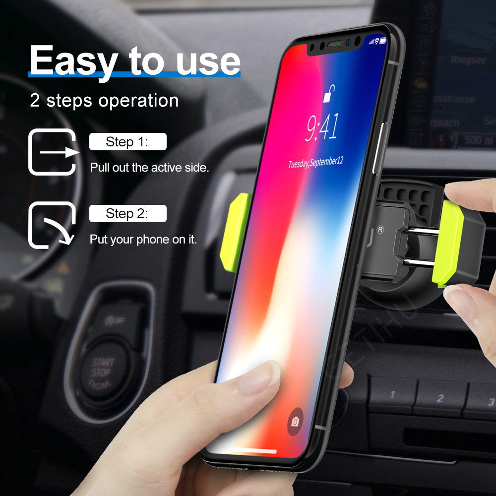 Image 4 - Car Phone Holder for IPhone X XS Max 8 7 6 Samsung 360 Degree Support Mobile Air Vent Mount Car Holder Phone Stand In Car-in Universal Car Bracket from Automobiles & Motorcycles