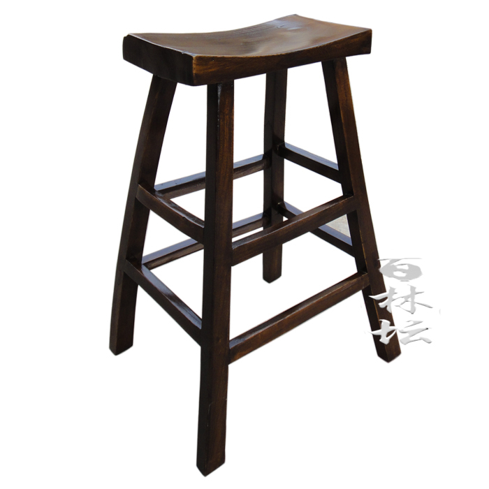 Chinese Solid Wood Bar Counterclassical Elm Furnitureconcise Stool