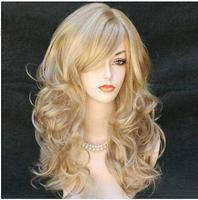 100 Brand New High Quality Fashion Picture Wigs Fashion Women Long Wavy Blonde Wigs Sexy LadiesCosplay
