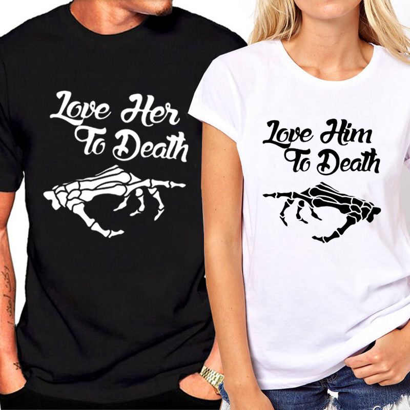 Matchande par kläder älskare t-shirt mode kvinnliga t-shirt sommar - Damkläder - Foto 2