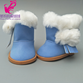 Fur boots fits for 18inch girl doll 7cm Doll Shoes for 43CM  Reborn Baby Doll shoes winter boots mini dolls shoes cartoon cat shoes 7cm pu leather shoes for 43cm doll 18 inch americian doll giant baby accessories girl gift