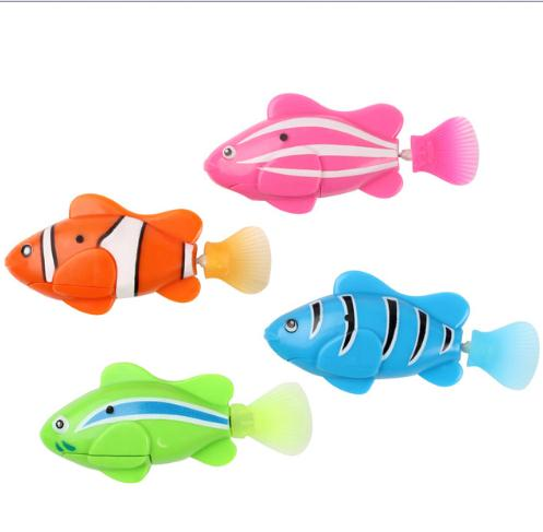 Baby toy robot fish robo toys aquarium decorations for Robot fish toy