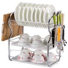 High Quality 1 Pcs 3-Layer Kitchen Storage Racks Shelf Holder Dish Plate Drain Rack - B-Shape Knife Chopboard