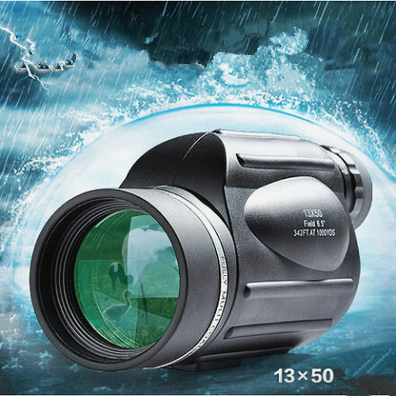 Genuine 13x50 High-power High-definition Night Vision Monocular Non-IR Telescope Hunting Camping spotting scope binocular telescope high definition high double night vision non infrared for children adult concert glasses
