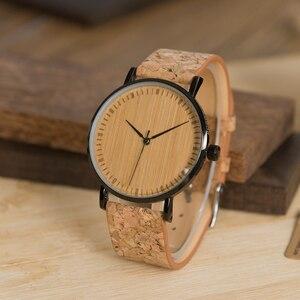 Image 4 - BOBO BIRD LE19 ไม้ไผ่ Dial แฟชั่นนาฬิกาไม้ Mujer ควอตซ์นาฬิกาหนังสแตนเลสนาฬิกาสำหรับสุภาพสตรี