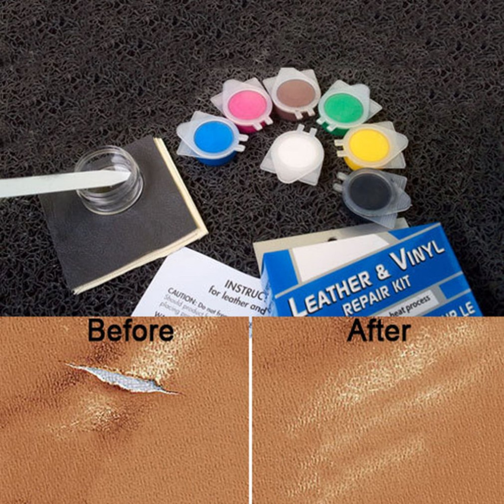 Multifunctional No Heat Vinyl Repair Kit Leather Repair Tools For Auto Car Seat Cracks Rips and Sofa Coats Holes Scratches Hot