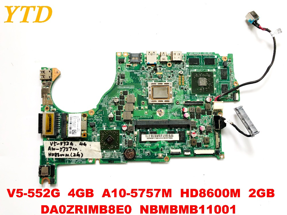 Original for font b ACER b font V5 552G laptop motherboard 4GB A10 5757M HD8600M 2GB