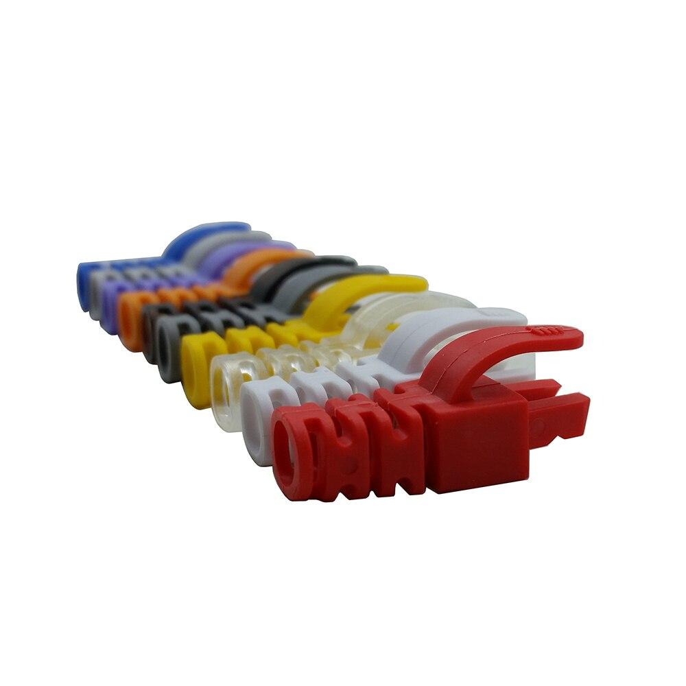 50pcs RJ45 Cap Connector Grasp CAT5E CAT6 RJ45 Plug Cap Ethernet Network Cable Strain Relief Boot RJ45 Plugs Protect Boot Caps